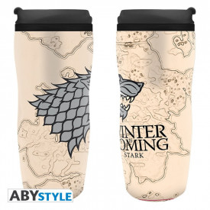 Cana termos cu capac pentru cafea licenta Game of Thrones - Winter is Coming