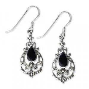 Cercei argint cu onix Ornament de Onix O1193