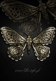 Clamă de păr gotică steampunk Mechanical Moth