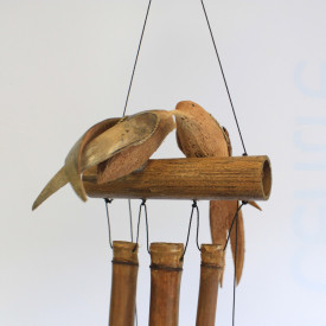 Clopotel de vant din trunchiuri de bambus Pasari
