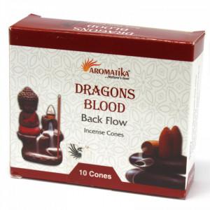 Conuri parfumate backflow Aromatika - Sange de Dragon