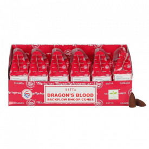 Conuri tamaie parfumata Backflow Satya - Dragons Blood