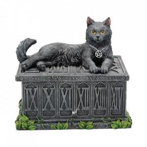 Cutie carti de tarot pisica neagra Veghetoarea Comorii 17 cm