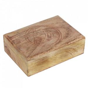 Cutie din lemn pentru carti de tarot Triquetra