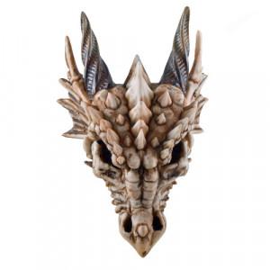 Decoratiune pentru perete craniu Dragon Fioros 18cm