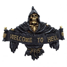 Decoratiune perete schelete Welcome to Hell 25 cm