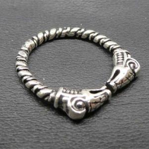 Inel argint viking Capete de dragoni