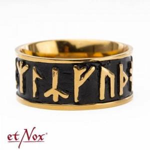 Inel otel inoxidabil Rune de bronz