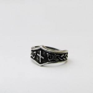 Inel viking cu runa Nauthiz