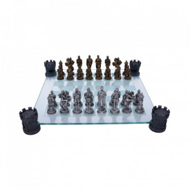Medieval Knight Chess Set 43cm