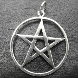 Pandantiv argint Pentagrama simpla