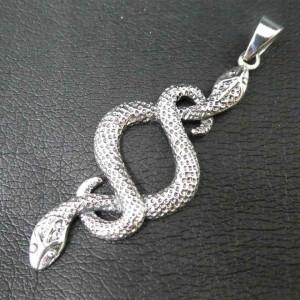 Pandantiv argint Serpi incolaciti 5.5cm