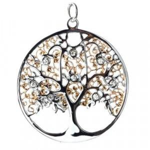Pandantiv otel inoxidabil Copacul vietii cu cristale SK2102-1