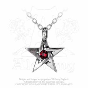 Pandantiv Pentagrama cu cristal