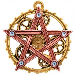 Pandantiv steampunk Pentagramă Penta Meridia