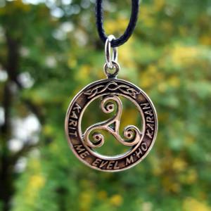Pandantiv Triskelion celtic argint