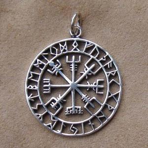 Pandantiv viking argint Vegvisir