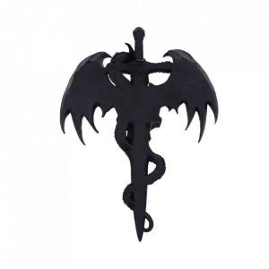 Placheta decorativa pentru perete Draco Skull 37cm