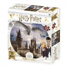 Puzzle 3D 500 piese licenta Harry Potter Hogwarts & Hedwig