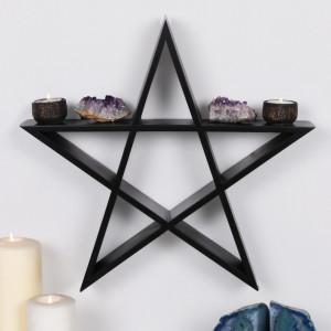 Raft din MDF in forma de Pentagrama 40 cm