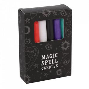 Set 12 lumanari magice pentru ritualuri - protectie, vindecare, iubire, succes, prosperitate, incredere, intelepciune