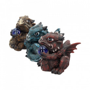 Set 3 statuete dragonei Pietre pretioase 8 cm