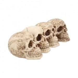 Set 4 statuete cu cranii Zambete sinistre 9.5 cm