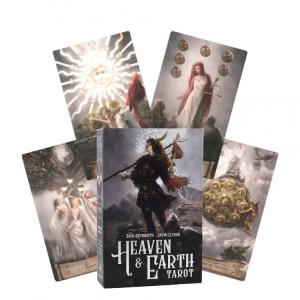 Set carti tarot cu brosura de instructiuni si carte despre arta tarotului Cerul si Pământul