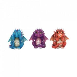 Set statuete Trei dragonei intelepti 8.5 cm