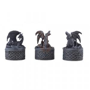 Set trei cutiute de bijuterii Comoara Dragonului 9cm