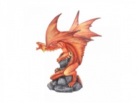 Statueta Age of Dragons - Dragon de foc adult - Anne Stokes - 24cm