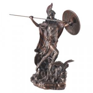 Statueta bronz Zeita Atena cu sulita 22cm