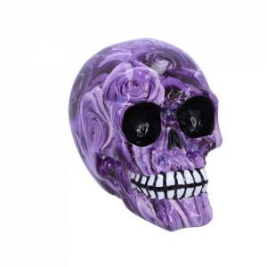 Statueta craniu Purple Romance 11 cm