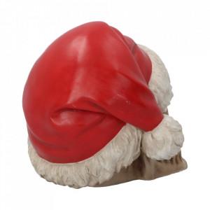 Statueta craniu Silent night 15.5 cm