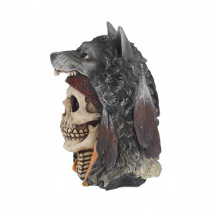 Statueta craniu Spiritul lupului 22.9 cm