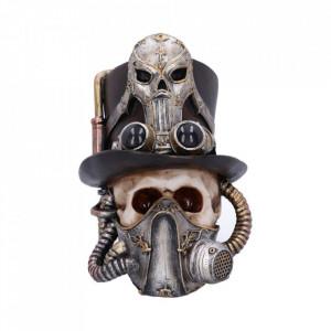 Statueta craniu steampunk Respiratie Usoara 19 cm