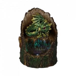 Statueta cu led dragon Arboreal Hatchling - verde 10cm