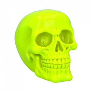 Statueta fosforescenta craniu Psychedelic - galben 15.5 cm