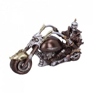 Statueta motocicleta Roti de otel 29cm