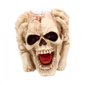 Suport lumanari craniu Durere Infernala 16 cm