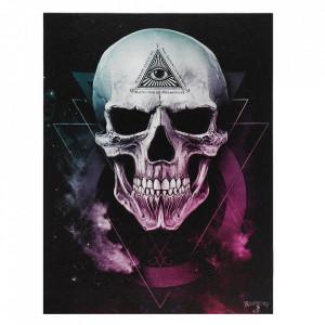 Tablou canvas craniu The Void 25x19cm