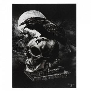 Tablou canvas gotic Corbul lui Poe 19x25cm