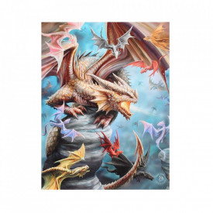 Tablou canvas, Taramul Dragonilor, 19x25cm - Anne Stokes