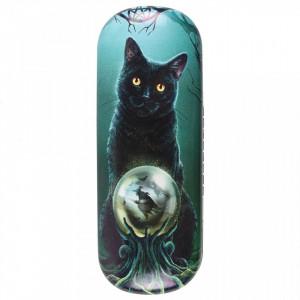 Toc pentru ochelari, design Lisa Parker, pisica neagra, Era Vrajitoarelor