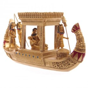 Statueta egipteana Corabie cu Baldachin 19 cm