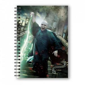 Agenda/Jurnal coperta 3D licenta Harry Potter - Voldemort