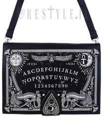 Black gothic, occult handbag, spirit board, planchette OUIJA BOARD BAG