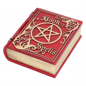 Book of Spells Red Jewelry Box