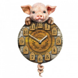Ceas perete cu pendul Porcusor Tic