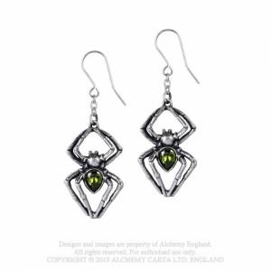 Cercei lungi paianjeni, cristal verde, Venin de Smarald